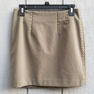 H&M Studded Olive Green Mini Skirt